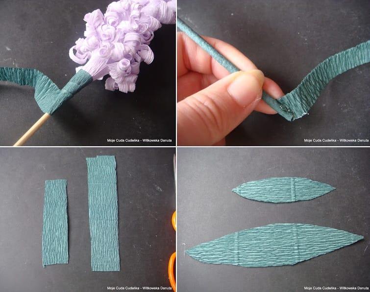 Как сделать гиацинт из гофрированной бумаги своими руками
