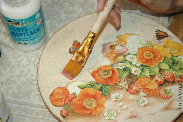 Объемная картина из салфетки с имитацией холста   страна мастеров