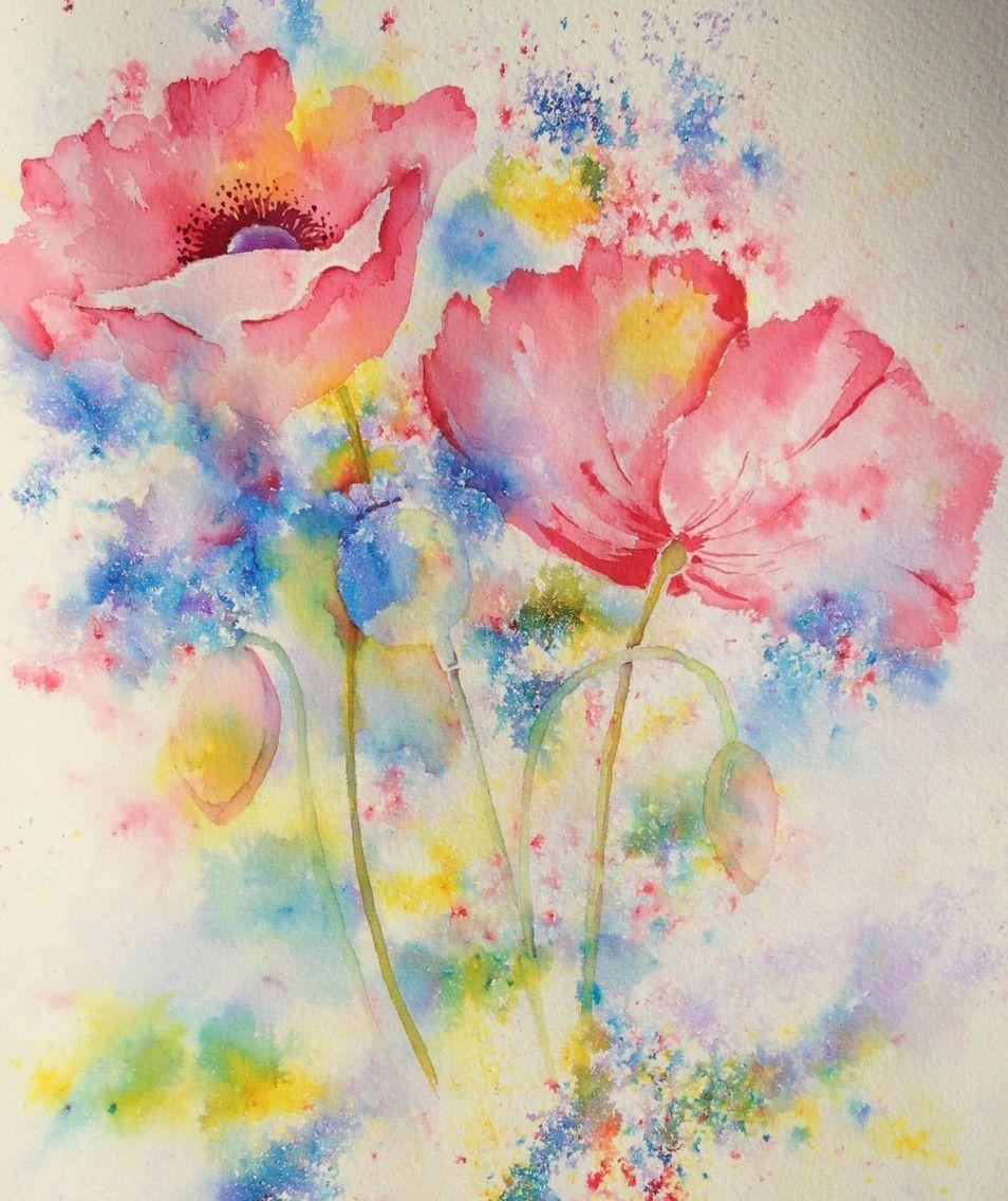 Цветы акварелью: пошаговый урок