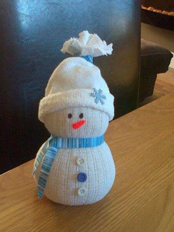 Снеговик своими руками на новый год из подручных материалов: из пластиковых стаканчиков, из носка, из бумаги - пошаговые мастер классы для начинающих