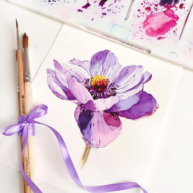 Розовые цветы с лепестками, акварельная живопись рисунок тату акварельные цветы, цветок png