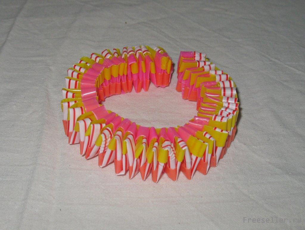 Как плести браслеты из цветных трубочек для плетения