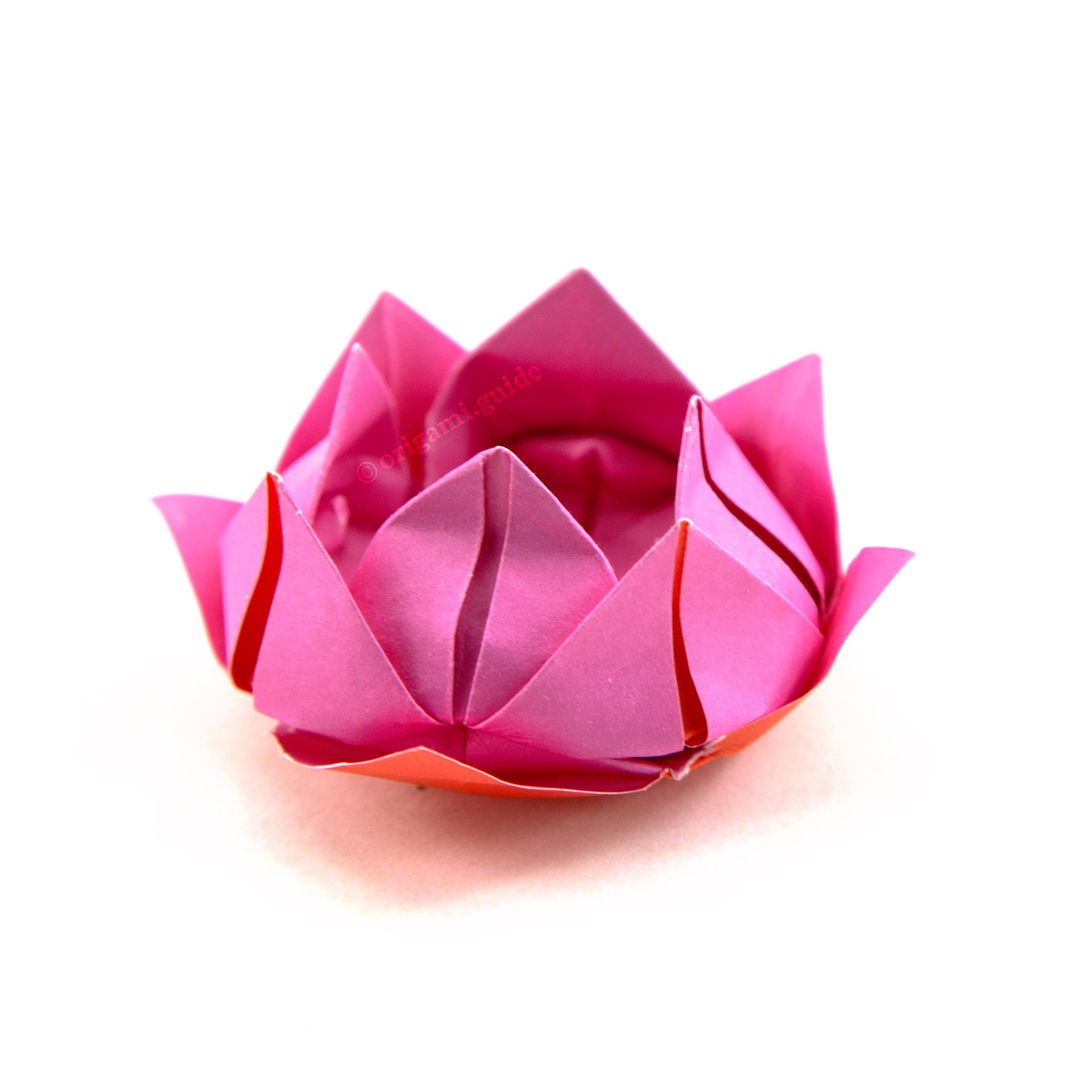 Цветок лотоса из гофрированной бумаги — своими руками