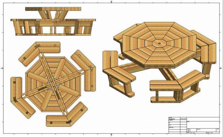 Садовый стол из штакетника