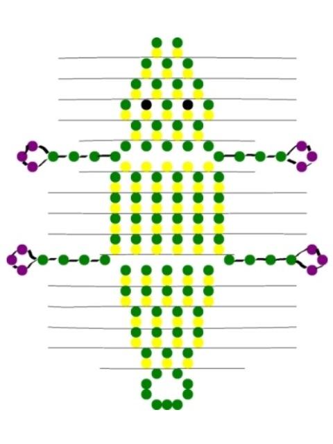 Как сделать крокодила из бисера? схема объемного плетения