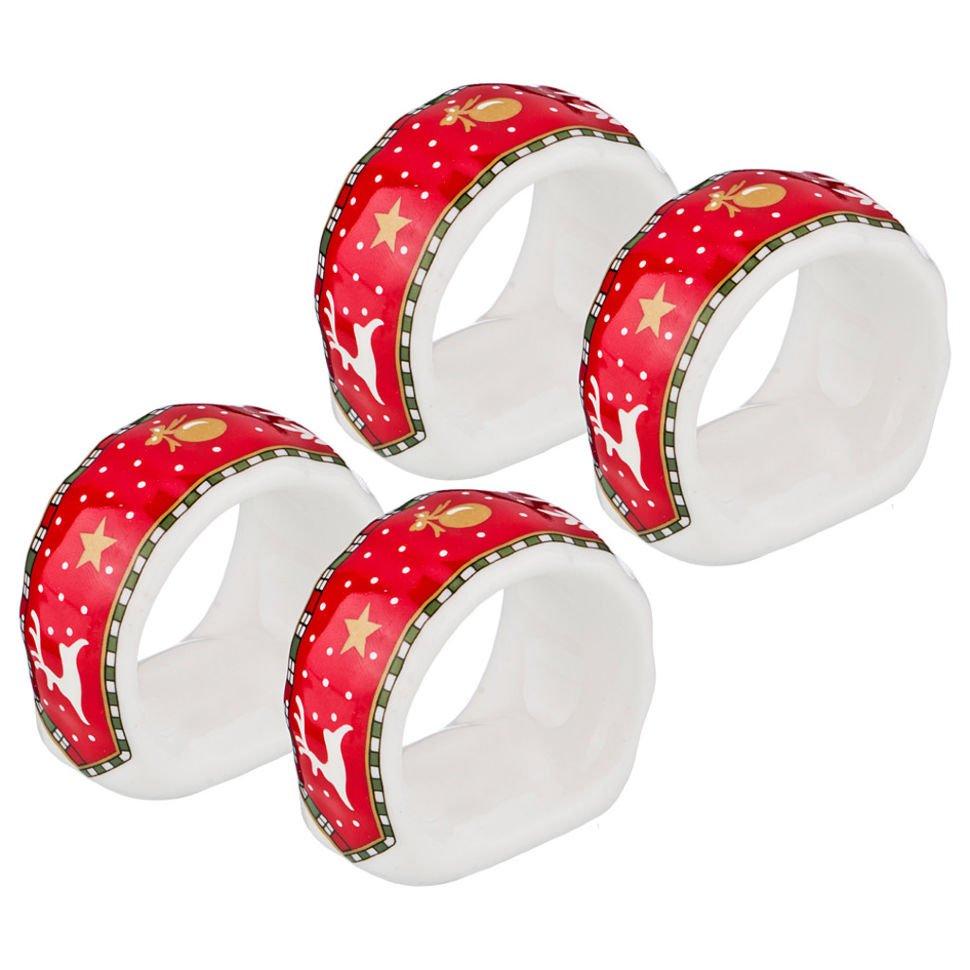 Декор предметов новый год ассамбляж кольца для салфеток на новогодний стол
