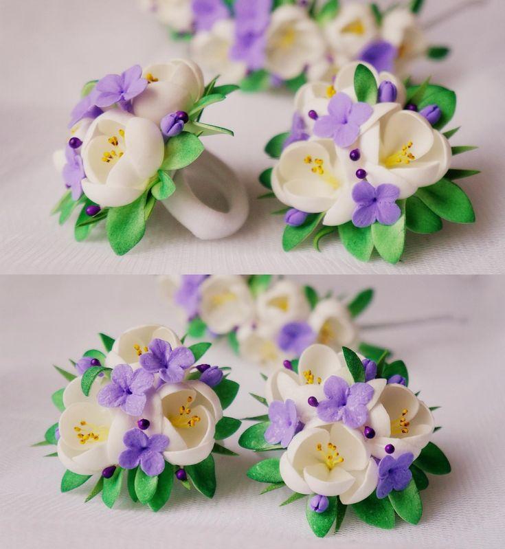 Заколка с цветком (78 фото): модели из фоамирана, заколки для волос из ткани, канзаши, цветочки