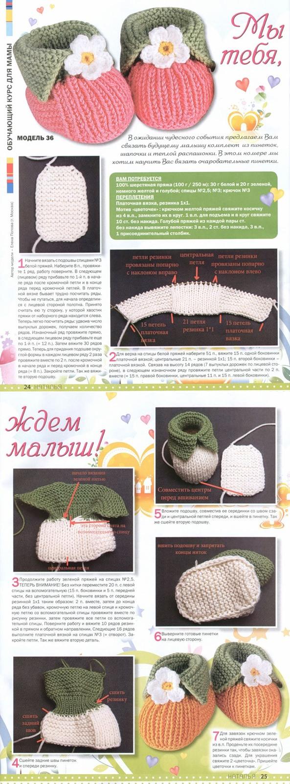 Пинетки зефирки для новорожденных: как связать спицами, пошаговое описание для начинающих, без шва на подошве, схемы, фото