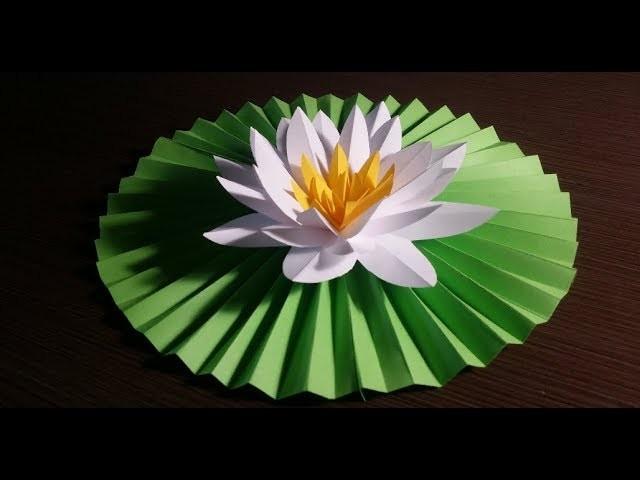 Лотос из атласной ленты своими руками| цветы своими руками