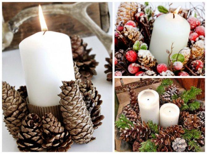 Что соорудить из свечей и банок к новому году