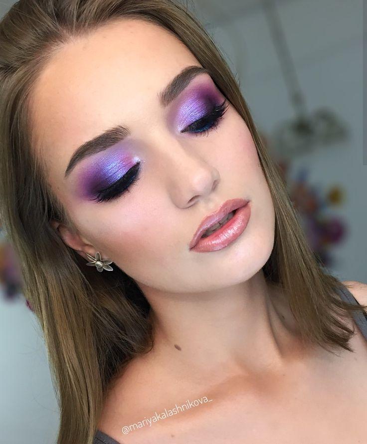 Слива лиловая: идеи для макияжа в фиолетовых тонах