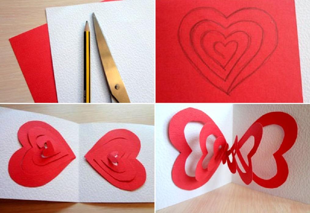 Валентинка своими руками из бумаги с детьми поэтапно: шаблоны, объемные, валентинка сердце в ладонях для детей | жл