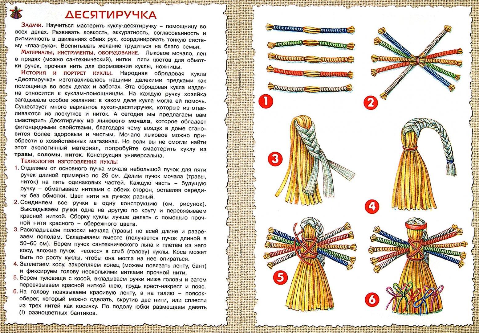 Ёлочныая игрушка из ниток