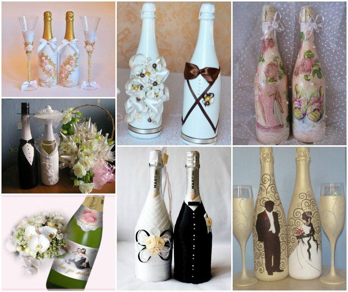 Бутылки на свадьбу своими руками – идеи декорирования с пошаговой инструкцией и фото: мастер-классы по украшению свадебных бутылок