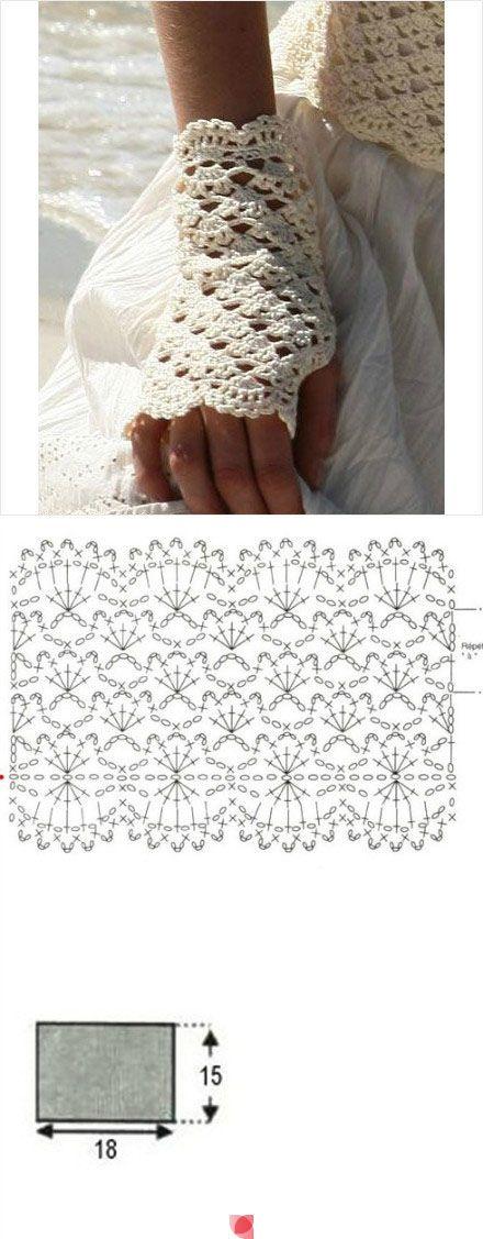 Митенки ажурные вязанные крючком - вяжем вместе он-лайн - страна мам