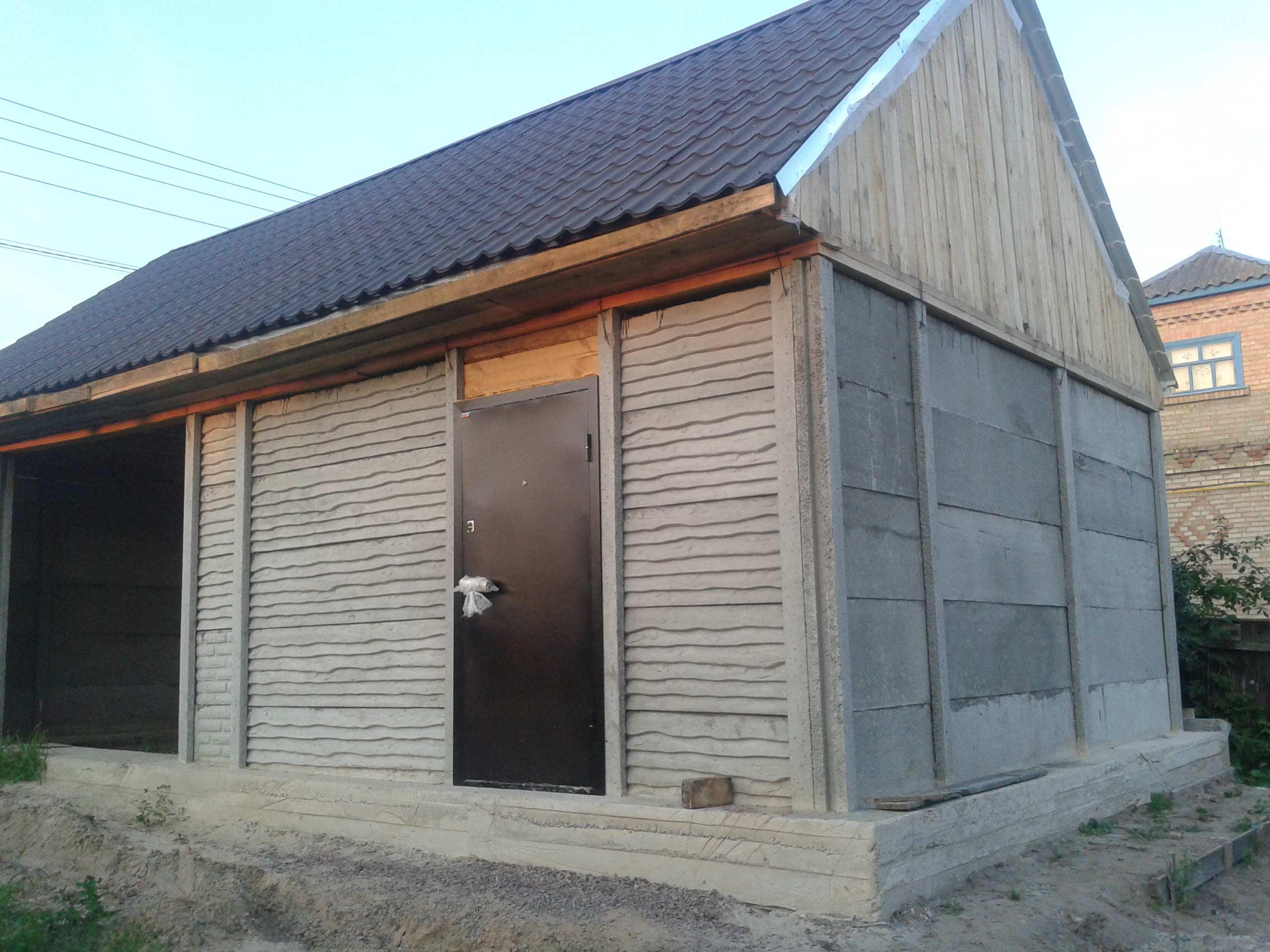 Железобетонные сборные и монолитные гаражи. гараж из жб плит. гараж из еврозабора строим гараж из плит