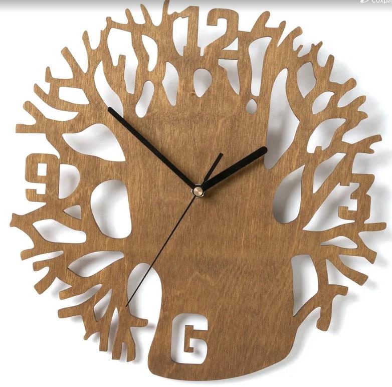 Как изготовить круглые настенные часы из фанеры