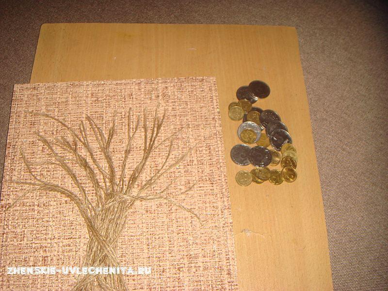 Создание денежного дерева из монет своими руками