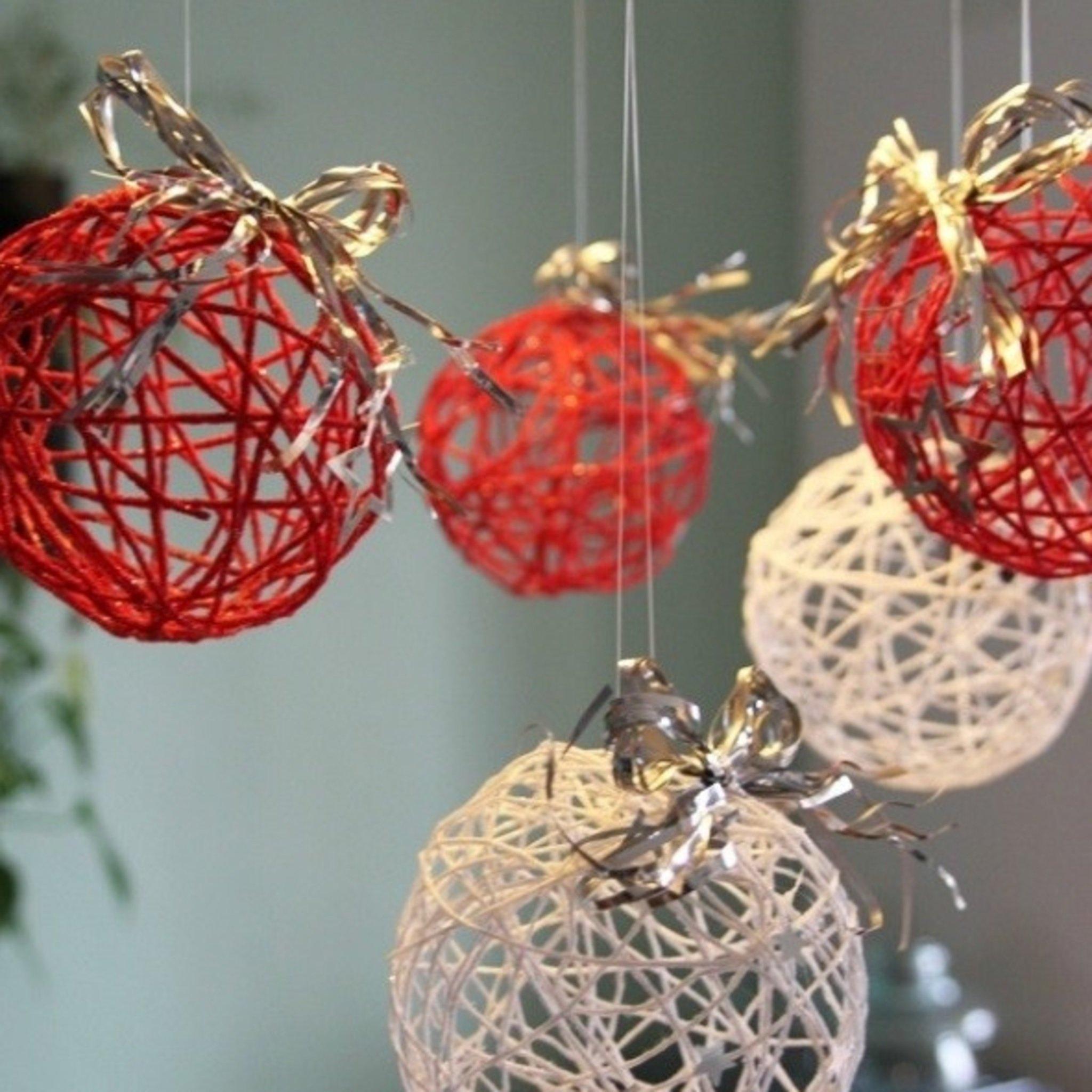 Декор из ниток: делаем шары своими руками +50 фото идей