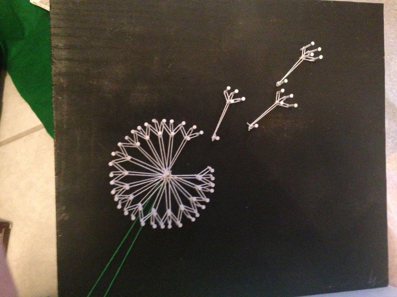 Техника string art — картины из гвоздей и ниток