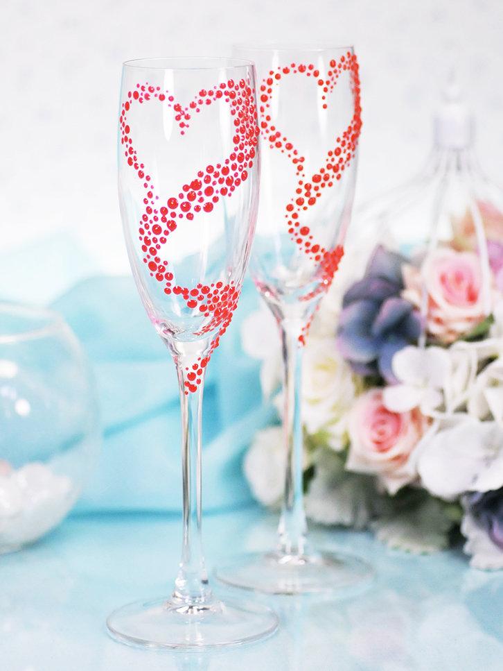 Популярные техники украшения свадебных бокалов своими руками, советы новичкам