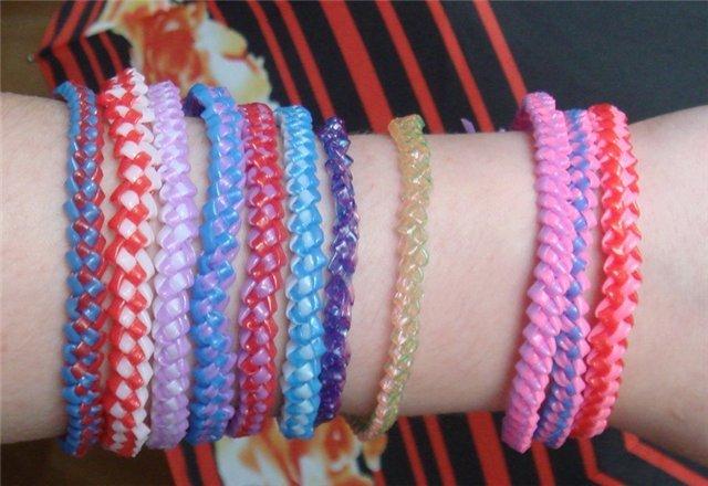 Плетение из трубочек: браслеты пошагово для начинающих с фото и видео