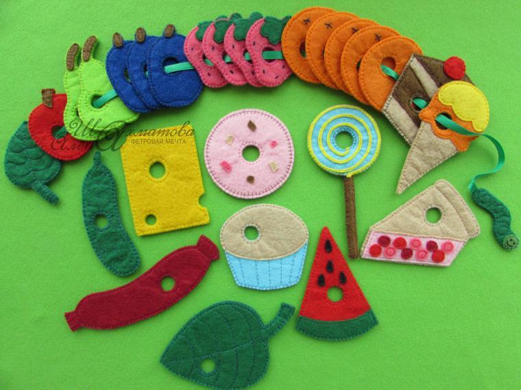 Шнуровка из фетра для детей: развивающее пособие своими руками
