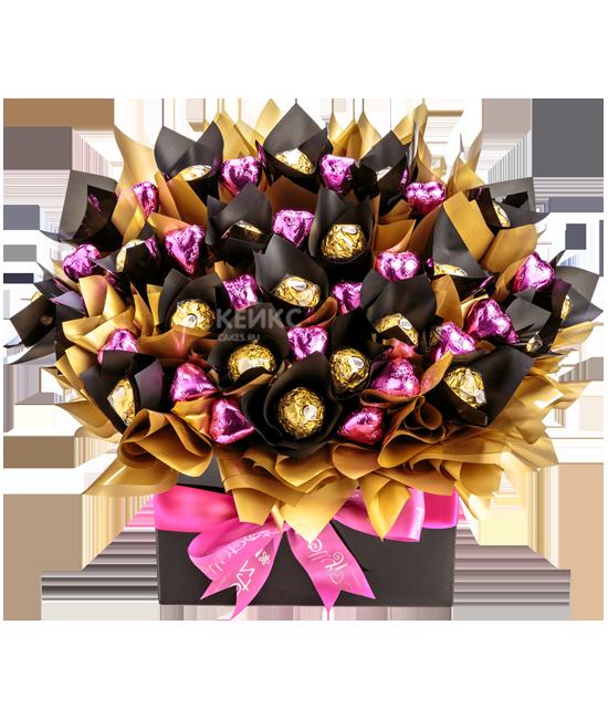 Букеты из конфет своими руками на 8 марта: как сделать красивые подарки для начинающих пошагово   все о рукоделии