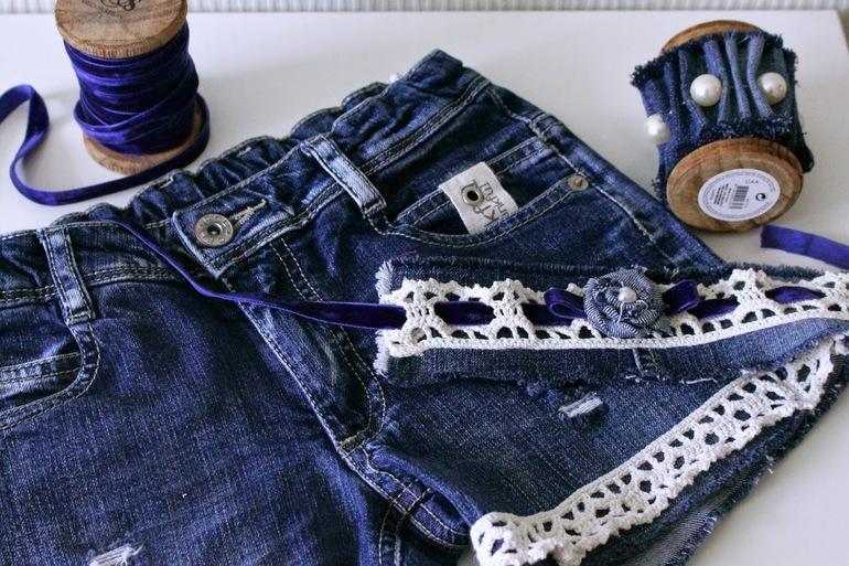 Елка из джинсовой ткани своими руками