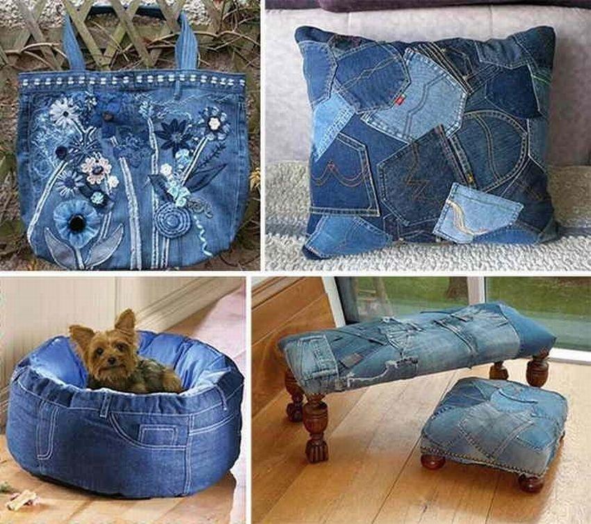 ᐉ креативная елочка из джинсовой ткани - своими руками -