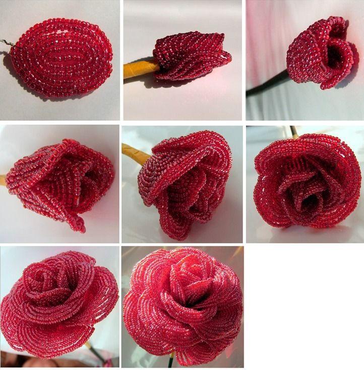 Как сделать розу из бисера своими руками. схема, мастер класс пошагово для начинающих