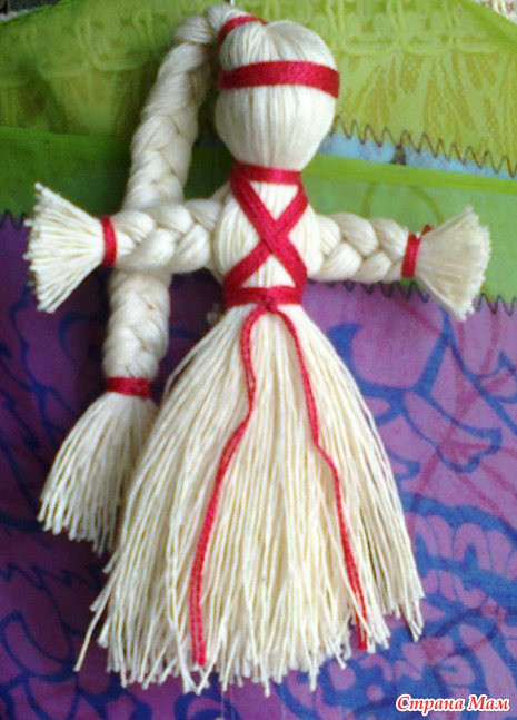 Кукла из ниток: как сделать своими руками   пошаговая инструкция