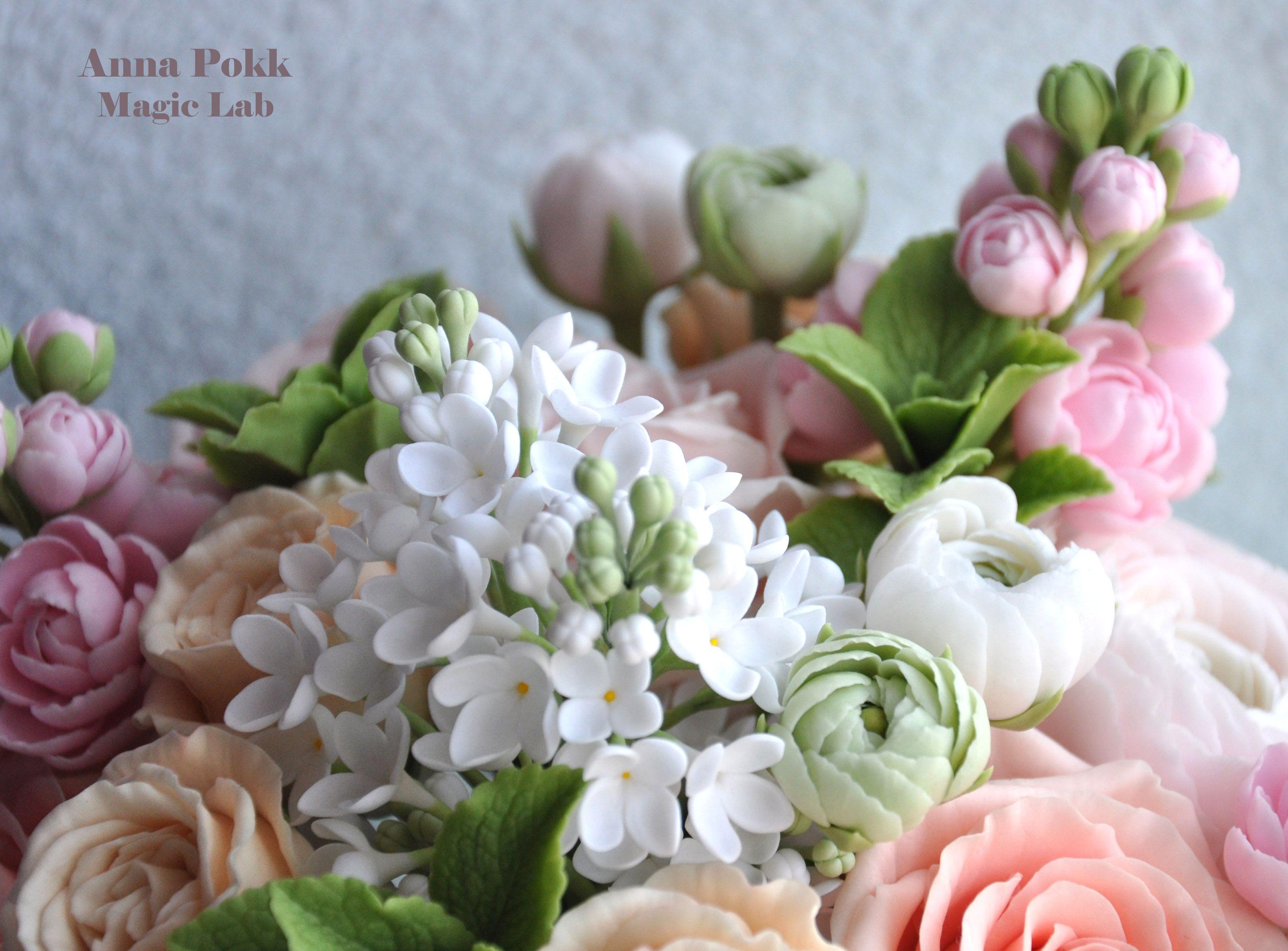 Цветы из холодного фарфора в чашке. цветочной композиции и холодного фарфора. особенности изделий из холодного фарфора