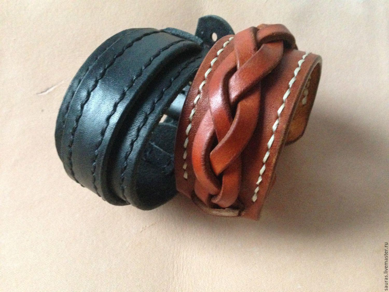 Оригинальные браслеты из кожи своими руками