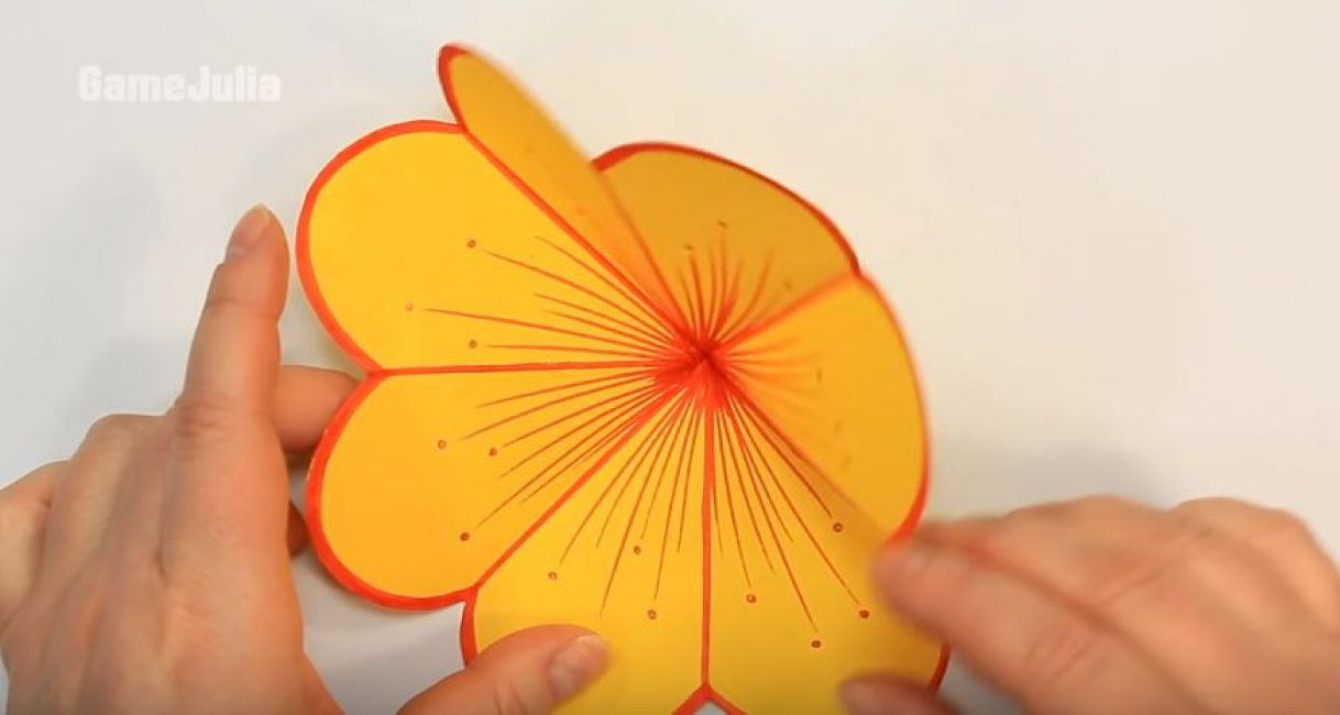 Объемная открытка своими руками, как сделать пошагово