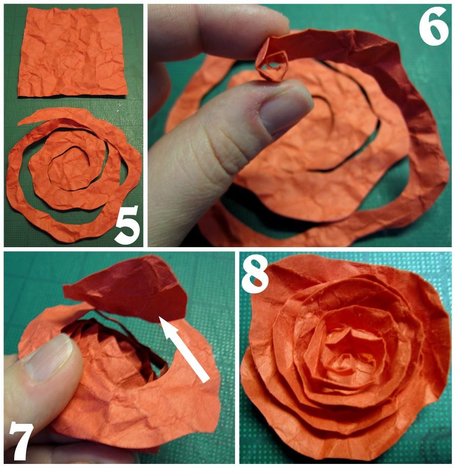 Роза из бумаги - 5 вариантов как сделать бумажные розы своими руками пошагово