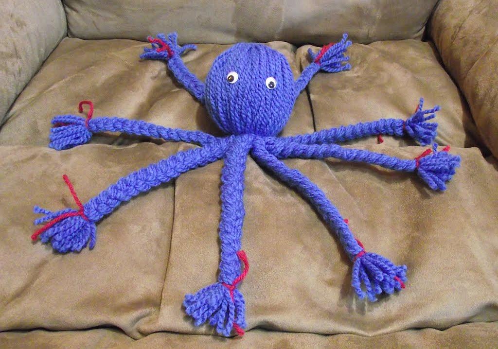Как сделать осьминога из ниток - пошаговый мастер-класс для детей с фото
