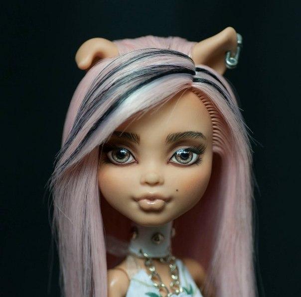 Как сделать ооак куклы акрилом. демонесса ооак из старой куклы
