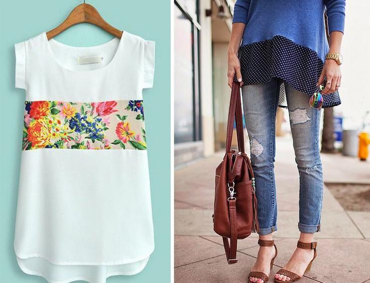 15 способов переделать старую футболку для лета