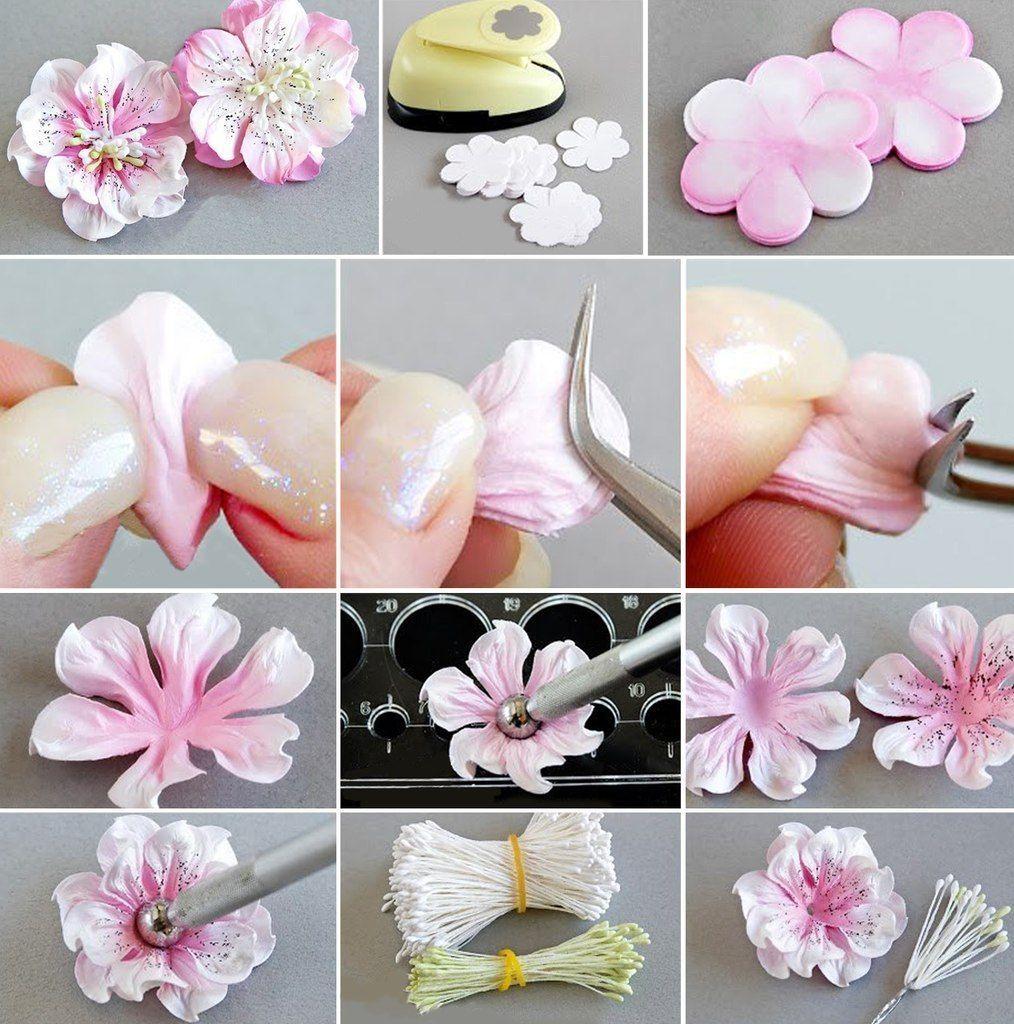 Цветы из полимерной глины для начинающих, своими руками