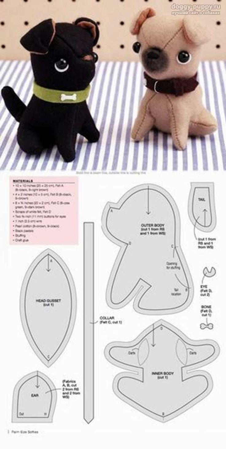 Выкройка собаки в натуральную величину: как сшить мягкую игрушку своими руками