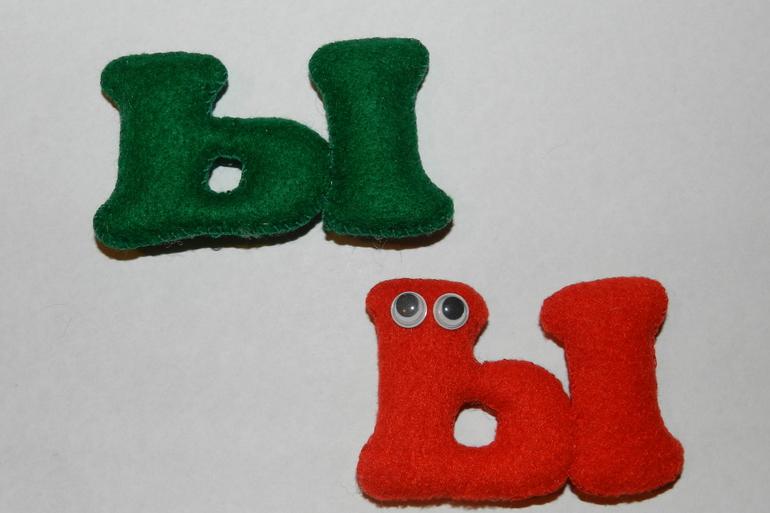Буквы из фетра - мастерица рукоделия