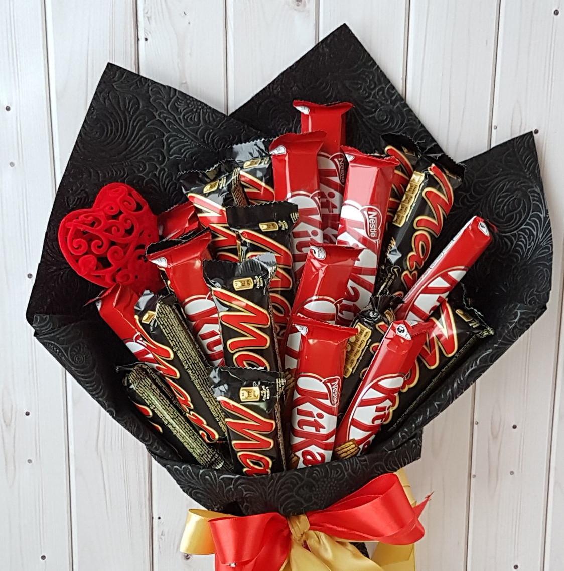 Букет из конфет своими руками - 120 фото и видео описание как и из каких конфет можно сделать букет
