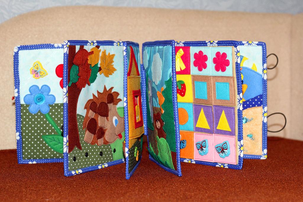Развивающие книжки для детей своими руками из ткани: выкройки, модели из фетра