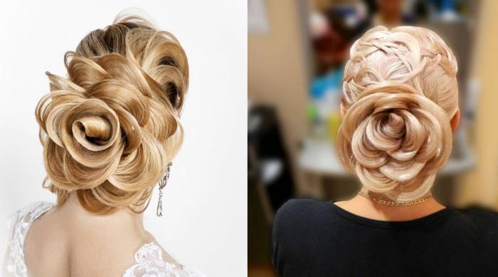 Украшение для волос «Трехцветная роза»