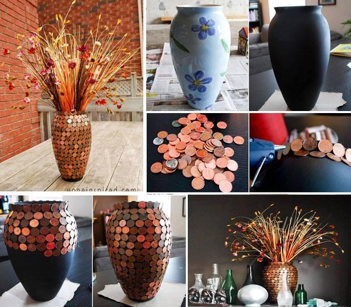 Декор предметов декупаж реставрация вазы клей салфетки