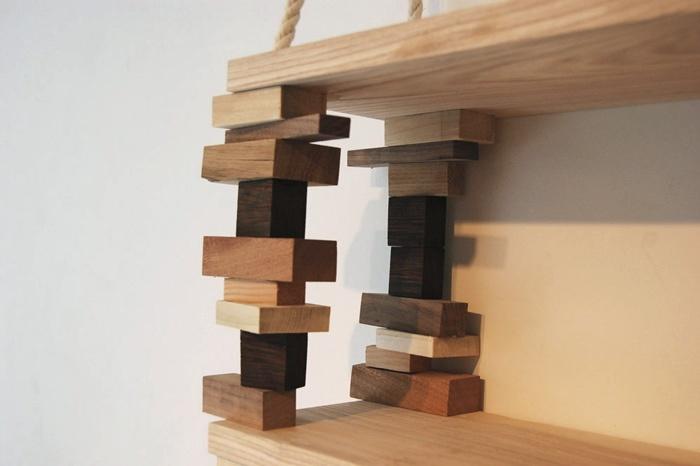 Деревянные полки — фото примеров эксклюзивных дизайнерских решений