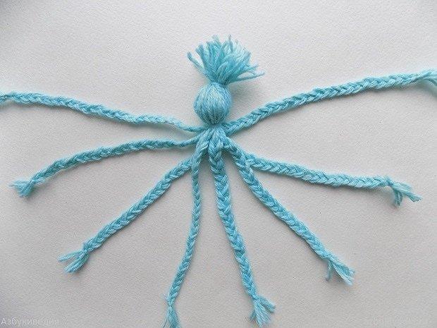 Осьминог из ниток своими руками: мастер-класс для малышей. мастер-класс по изготовлению детской игрушки «осьминог и золотая рыбка - женское здоровье