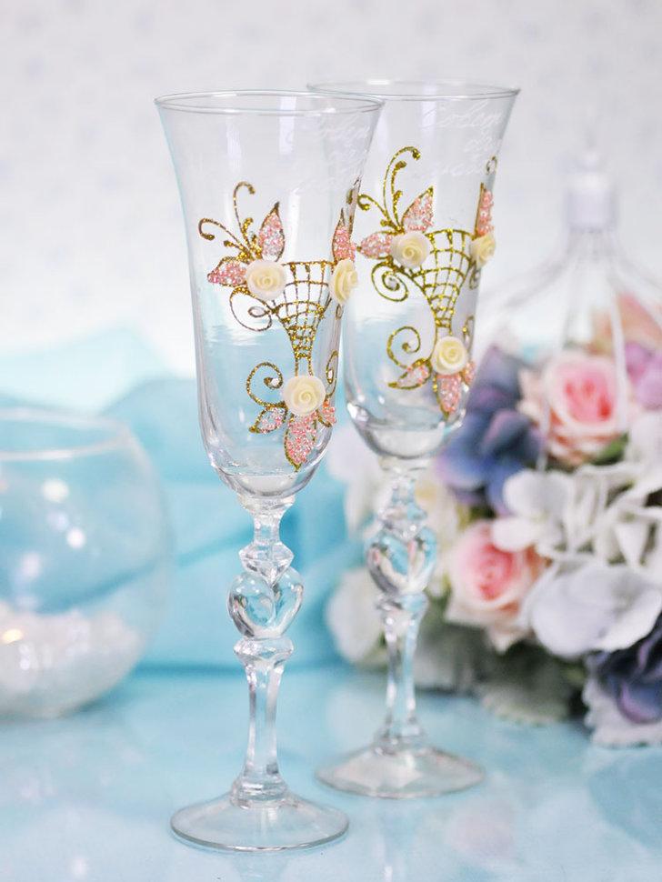ᐈ  ? ? декор свадебных бокалов своими руками   ⭐ 2020 дизайн интерьера a-r-s