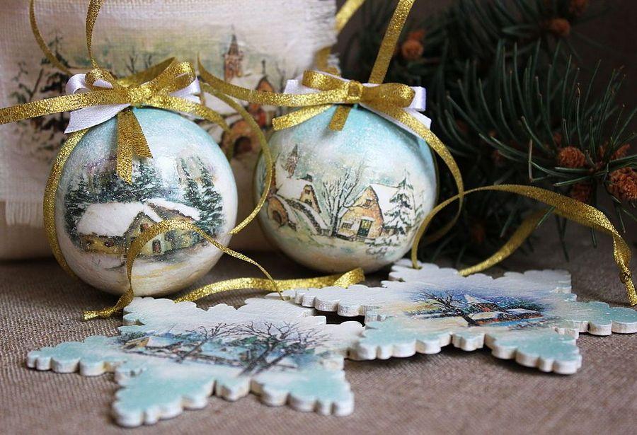 Мк деревянной подвески снежинки на елку декупаж. мастер-класс по декупажу: снежинки из cd-дисков. «ледяная» кристальная паста